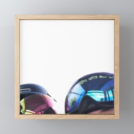 Going up - Goggles reflecting gondola Framed Mini Art Print