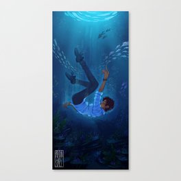 the sea's person Canvas Print
