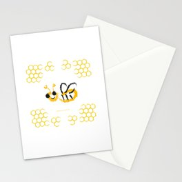 Happy bee Stationery Cards