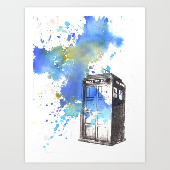 Doctor Who Tardis Art Print