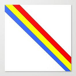 Flag of romania 4 -romania,romanian,balkan,bucharest,danube,romani,romana,bucuresti Canvas Print