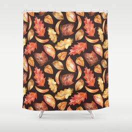 Autumnal Leaves Pattern 5 Shower Curtain