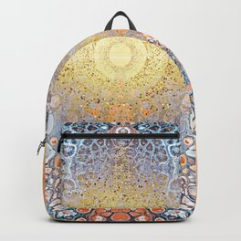 Earth Chakra - Abstract Nature Marble Boho Gold Glitter Pattern Backpack