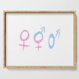 Symbol of Transgender 68 Serving Tray