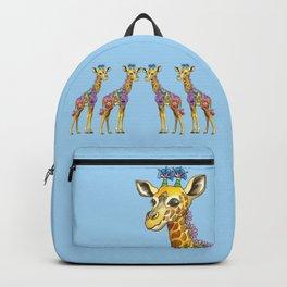 Geraldine the Geniunely Nice Giraffe Blue Backpack