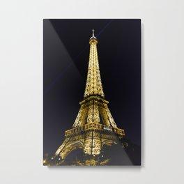 Golden Eiffel Tower Metal Print