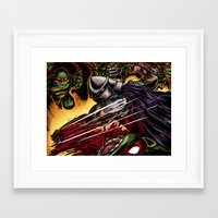 tmnt Framed Art Prints featuring TMNT by Iggycrypt