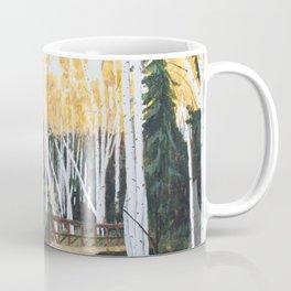 Trail Through the Birch Coffee Mug