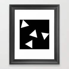 Simple Triangles Framed Art Print