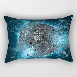 Disco planet explosion Rectangular Pillow