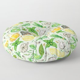 Healing Protection Potion Ingredients Floor Pillow