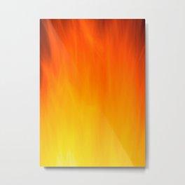 Mark Rothko Inspired Fire Painting Metal Print