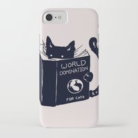 tree iPhone & iPod Cases featuring World Domination For Cats by Tobe Fonseca