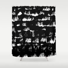 Black pattern#1 Shower Curtain