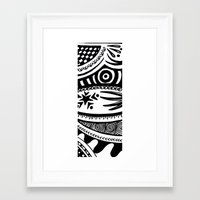 zentangle Framed Art Prints featuring Zentangle by Wealie