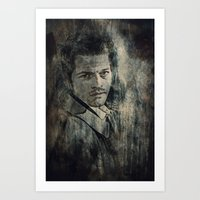 castiel Art Prints featuring Castiel by Sirenphotos