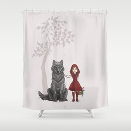 Red Hood Shower Curtain
