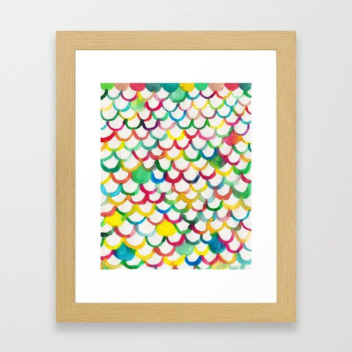 COLOR SCALES Framed Art Print