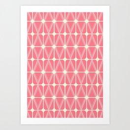 Pink summer - Abstract pattern Art Print