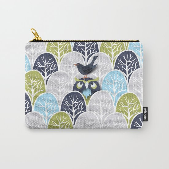 Forest Owl No. 2 Carry-All Pouch