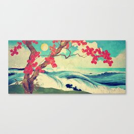Waking to the Wild and Beautiful Ocean of Dhin Canvas Print