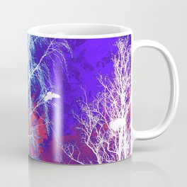 The Bird, the Nest and the Spooky Trees 2 Coffee Mug