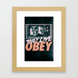 They Live Obey Framed Art Print