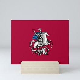 Flag of moscow Mini Art Print