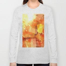 Orange rectangle coctail Long Sleeve T-shirt