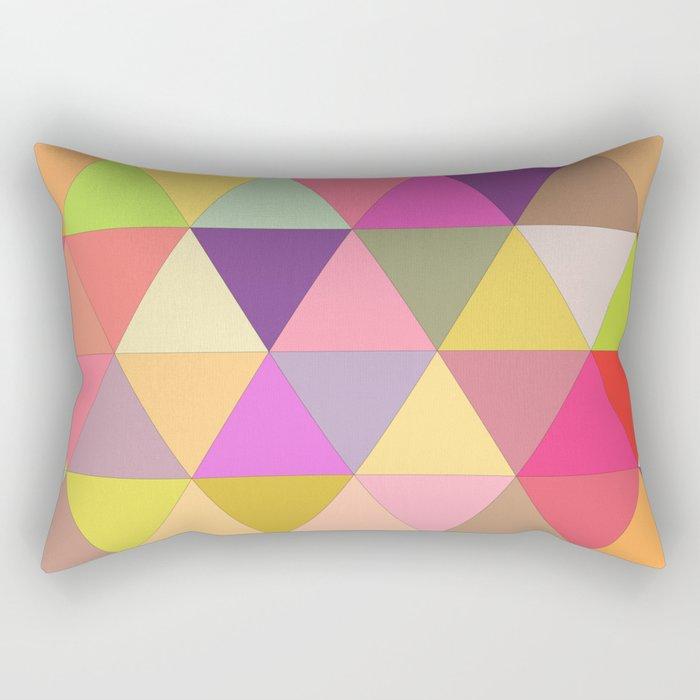Happy geometry Rectangular Pillow