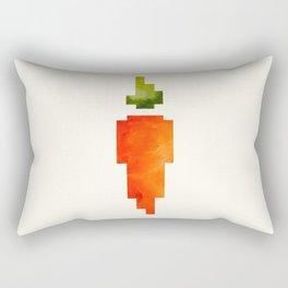 Watercolor Geometric Vegetable Orange Carrot Geometric Shapes Pixel Art Rectangular Pillow