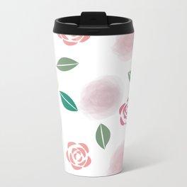 Abstract Roses Metal Travel Mug