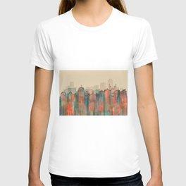 Wellington City Skyline, NZ - Navaho T-shirt