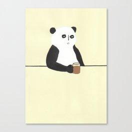 Panda walks into a bar Canvas Print