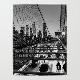 Crossing the Brooklyn Bridge Poster
