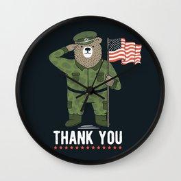 Veteran's Day Wall Clock