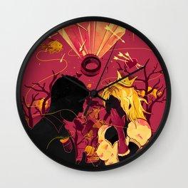 2 Hearts 2 Love Wall Clock