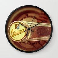 vespa Wall Clocks featuring Vespa by HooVeHee