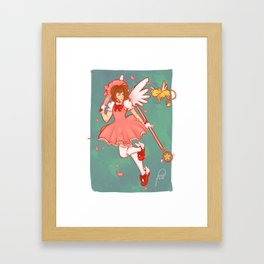 Sakura & Kero Framed Art Print