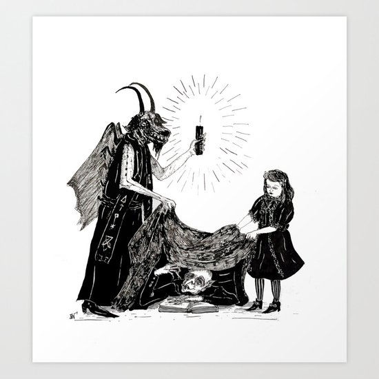 The Darkness And The Light Art Print