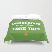 quotes Duvet Covers featuring Zelda Quotes by Janismarika