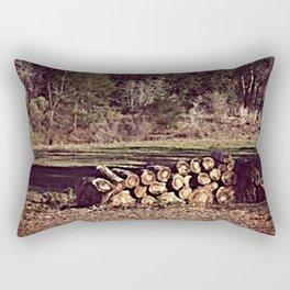Ranch Firewood Rectangular Pillow