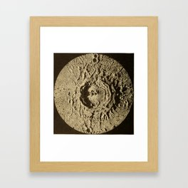 Astronomy for the Use of Schools and Academies (1882) - Copernicus, a Lunar Crater Framed Art Print
