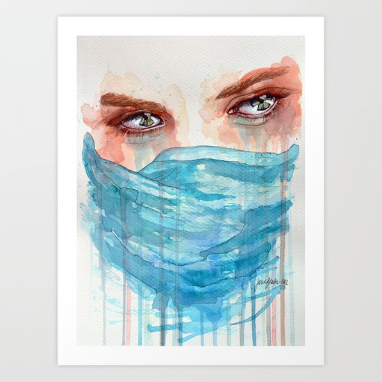 Forgotten, watercolor painting Art Print
