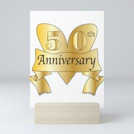 50th Anniversary Heart Mini Art Print