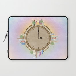 Time goes around Earth , or Earth goes around Time. Laptop Sleeve
