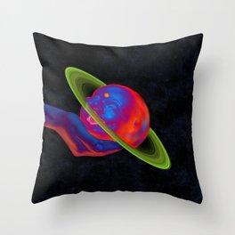 Happy Planet Throw Pillow