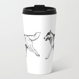 Siberian Husky Movement Study Travel Mug
