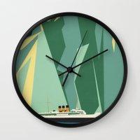 alaska Wall Clocks featuring Alaska by Lost & Found