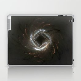 Metallic Swirl Fractal Laptop & iPad Skin